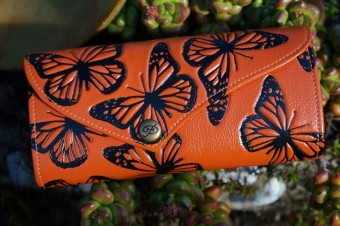 Clutch - Orange and Black Butterfly image